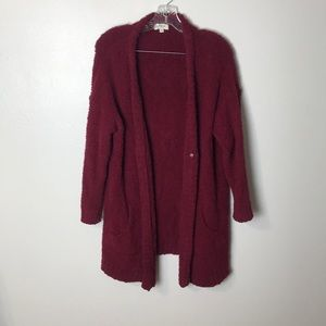 Umgee Teddy Button Front Long Cardigan Size Medium